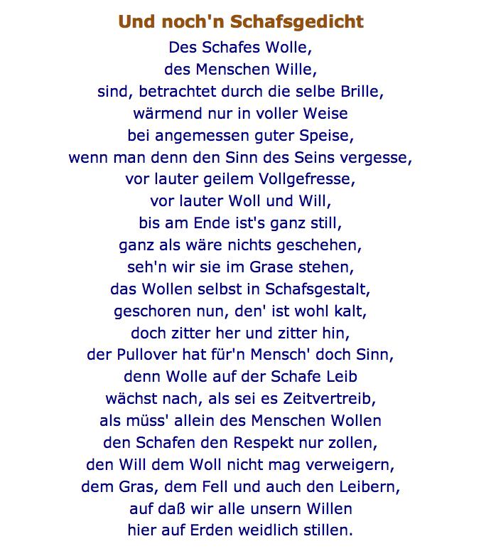 Und noch'n Schafsgedicht, Norbert W. Schlinkert