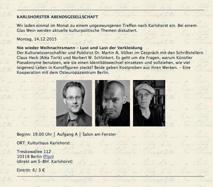 14.12.15 Karlshorster Abendsgesellschaft