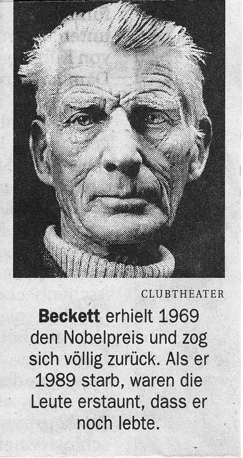 Samuel Beckett lebt!